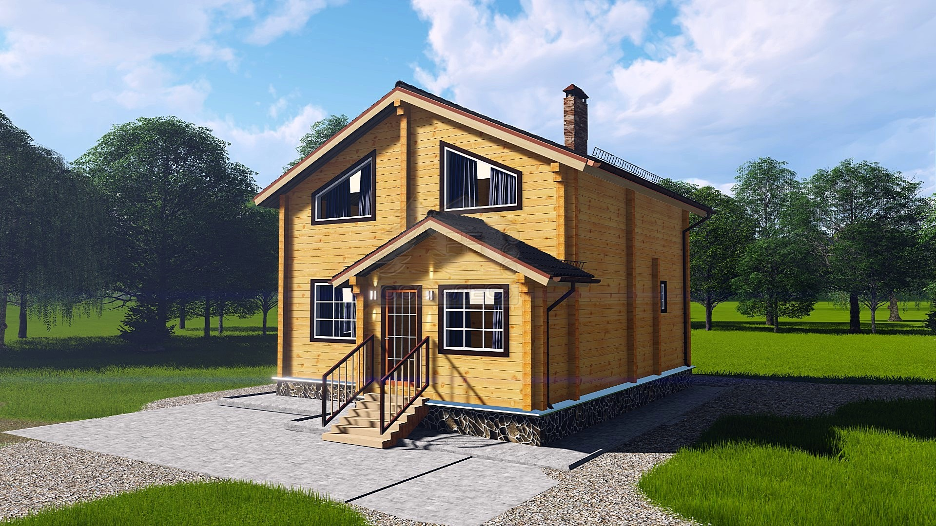 Проект дома из бруса ТД-83