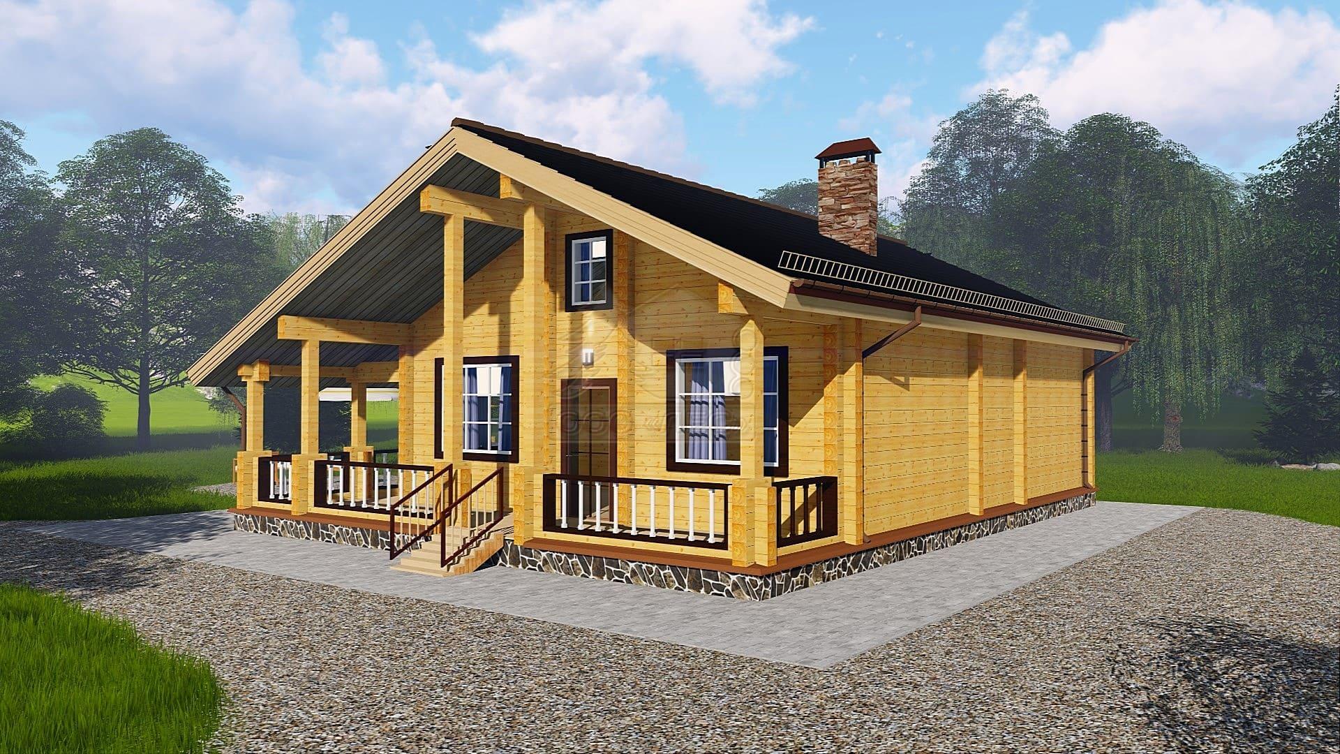 Проект дома из бруса ТД-179