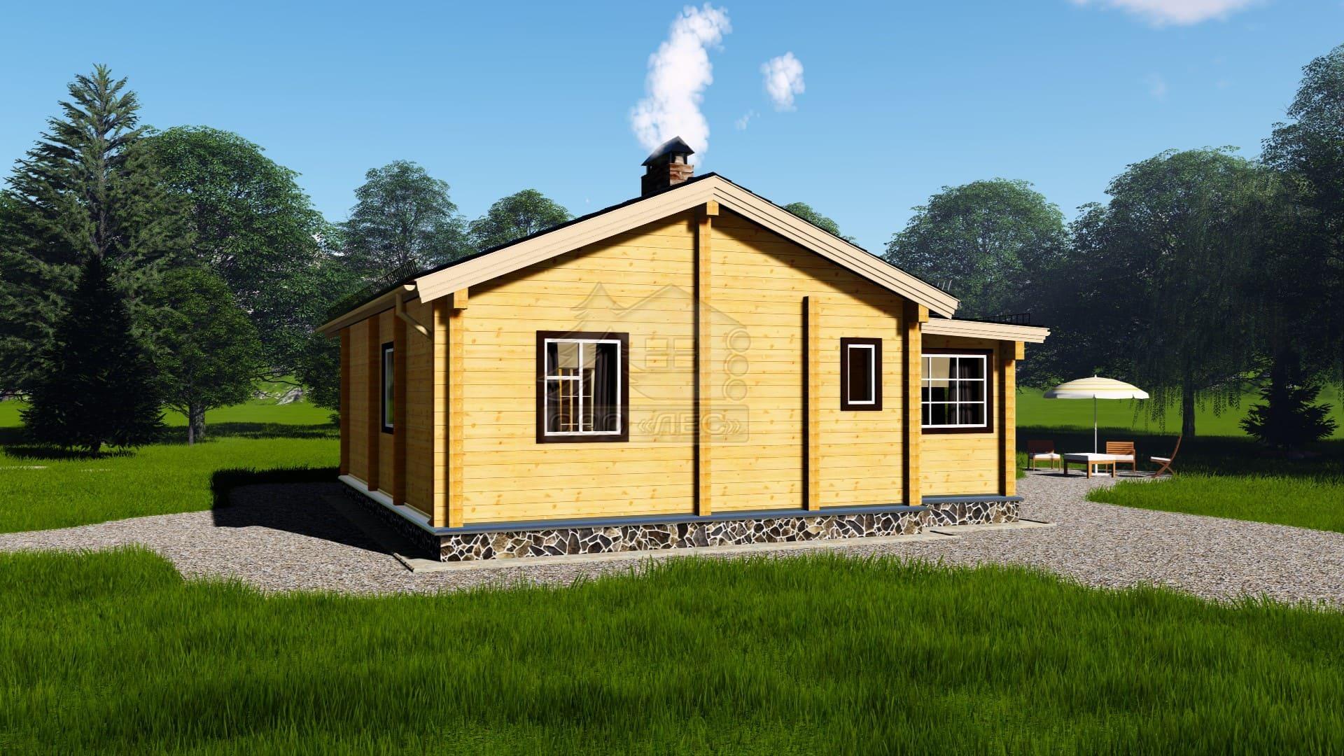 Проект дома из бруса ТД-185