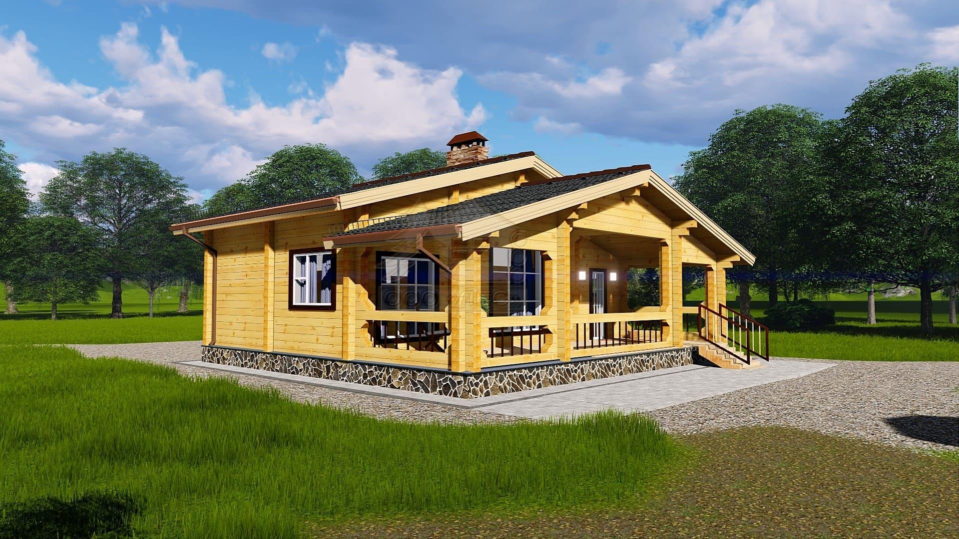 Проект дома из бруса ТД-152