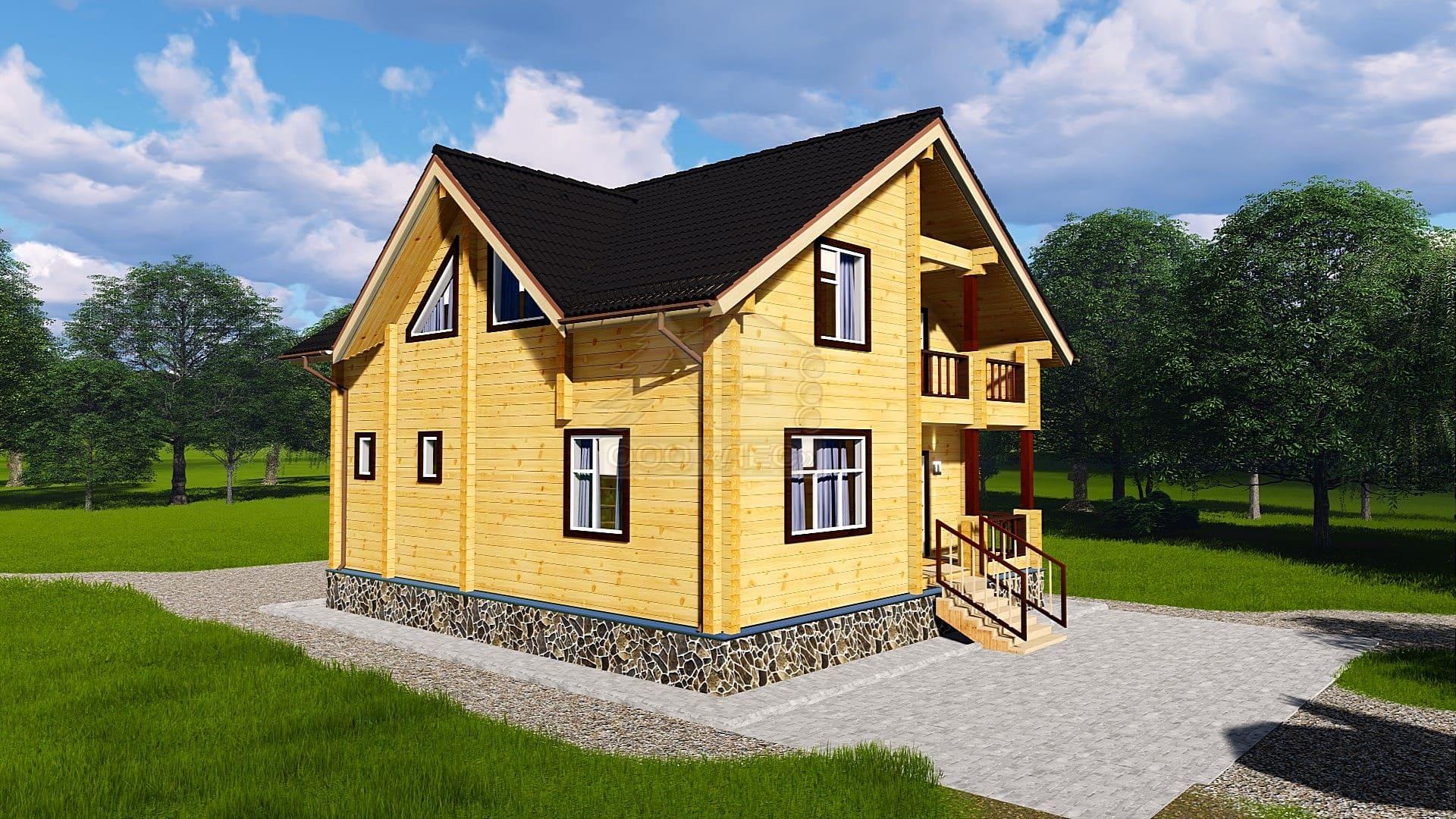 Проект дома из бруса ТД-174