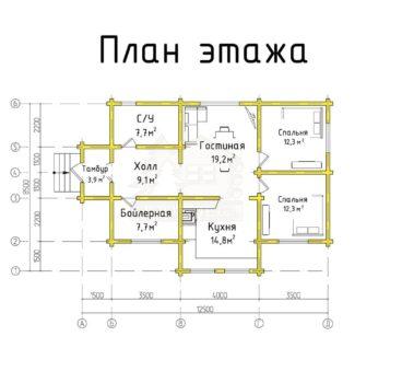 План этажа проекта дома ТД-192