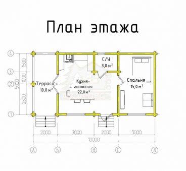 План этажа проекта дома ТД-186