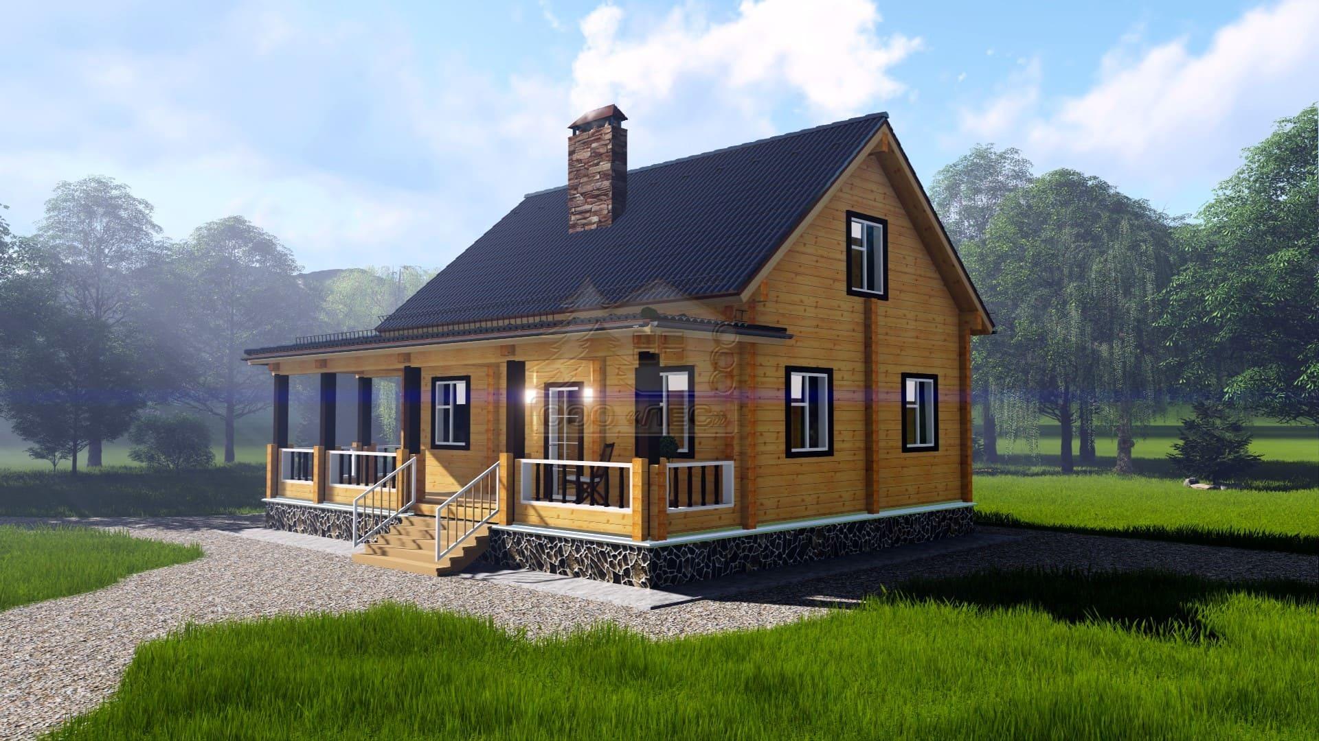 Проект дома из бруса ТД-188