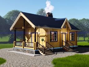 Проект дома из бруса ТД-186