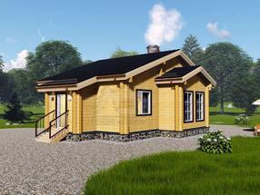 Проект дома из бруса ТД-192