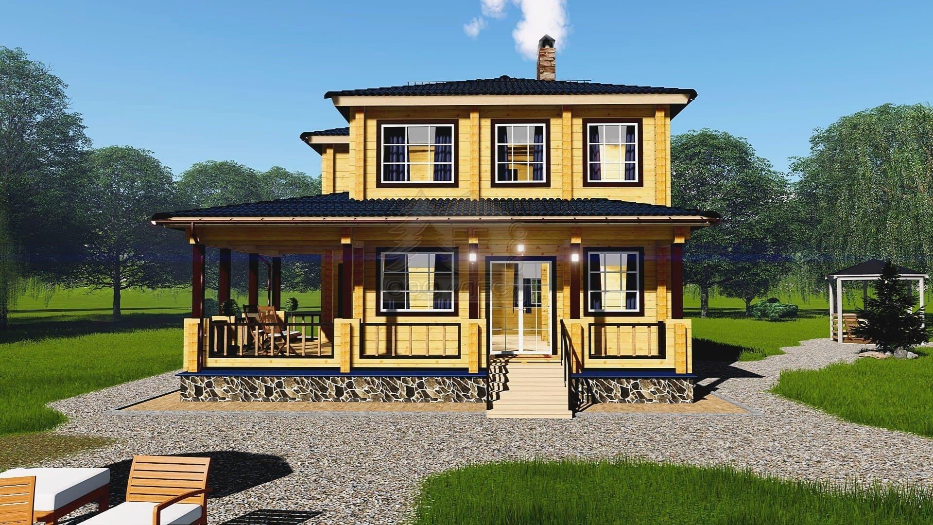 Проект дома из бруса ТД-8