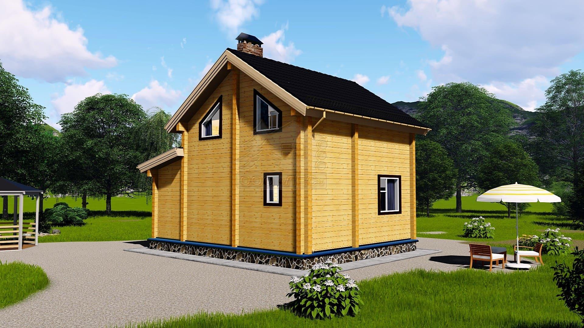 Проект дома из бруса ТД-193